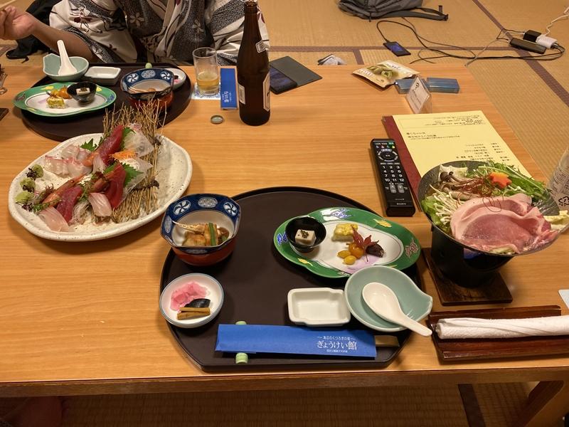 銚子ホテルの夕飯